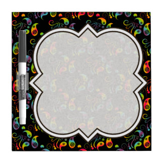 Create Your Own Rainbow Paisley Dry Erase Board