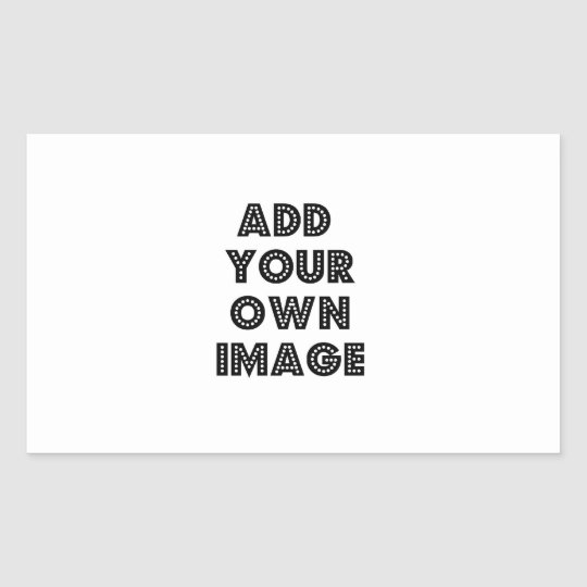 Create Your Own Rectangle Shaped Sticker! Custom Rectangular