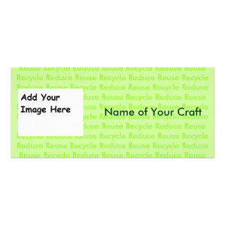 Create Your Own Recycle Cards Customized Rack Card