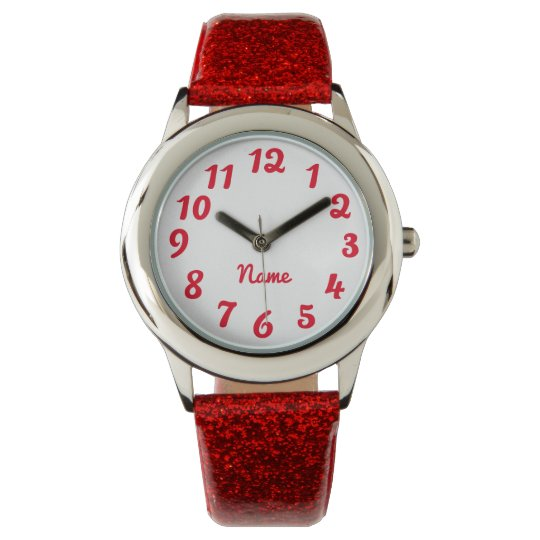 Create Your Own Red Personalised Solid Colour Watch