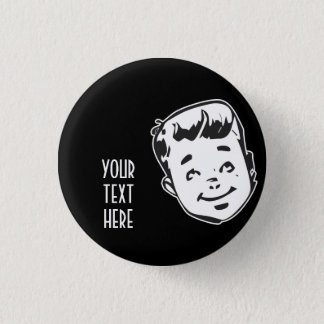 CREATE YOUR OWN RETRO BOY GIFTS 3 CM ROUND BADGE