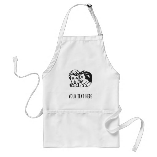 CREATE YOUR OWN RETRO GOSSIP LADY GIFTS APRON
