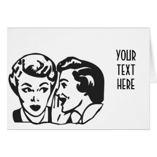 CREATE YOUR OWN RETRO GOSSIP LADY GIFTS GREETING CARD
