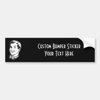 CREATE YOUR OWN RETRO GUY BOW TIE GIFTS BUMPER STICKER