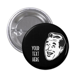 CREATE YOUR OWN RETRO HAPPY MAN HEAD GIFTS 3 CM ROUND BADGE