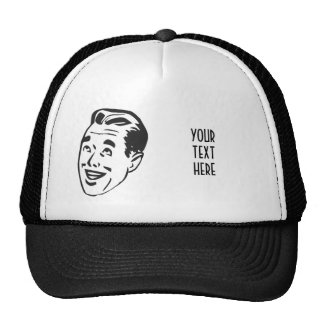CREATE YOUR OWN RETRO HAPPY MAN HEAD GIFTS CAP