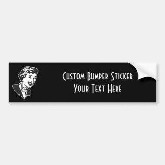 CREATE YOUR OWN RETRO MOM SCOLDING GIFTS BUMPER STICKER