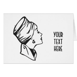 CREATE YOUR OWN RETRO RICH LADY GIFTS GREETING CARD