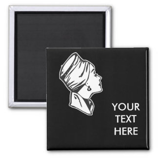 CREATE YOUR OWN RETRO RICH LADY GIFTS SQUARE MAGNET