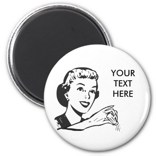 CREATE YOUR OWN RETRO SALT LADY GIFTS MAGNET