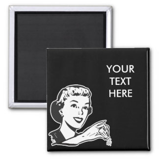 CREATE YOUR OWN RETRO SALT LADY GIFTS SQUARE MAGNET