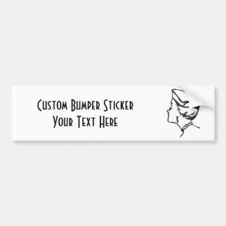 CREATE YOUR OWN RETRO SNOB GIFTS!!! BUMPER STICKER