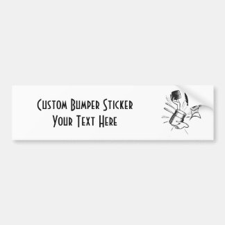 CREATE YOUR OWN RETRO SURPRISED LADY GIFTS BUMPER STICKER