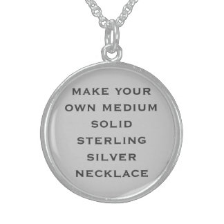 Create Your Own Round Pendant Necklace