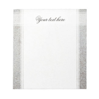 Create your own   Sand texture photo Notepad