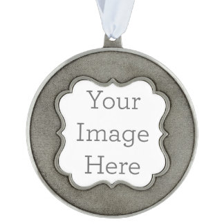 Create Your Own Scalloped Ornament Scalloped Pewter Decoration