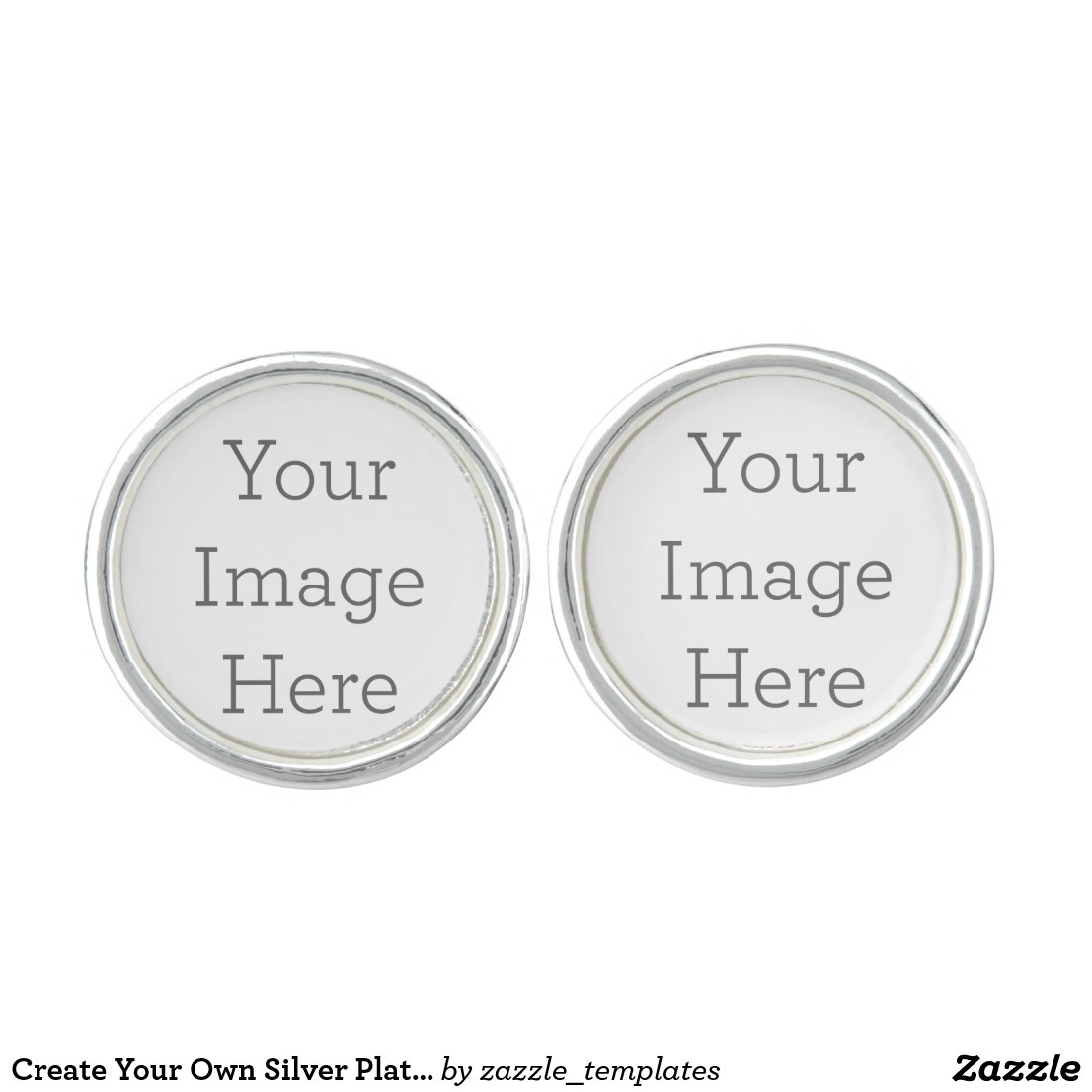 Create Your Own Silver Plated Cufflinks
