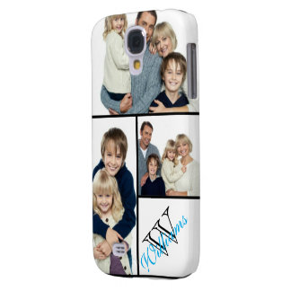 Create Your Own Simple Photo Collage w/Custom Name Galaxy S4 Case