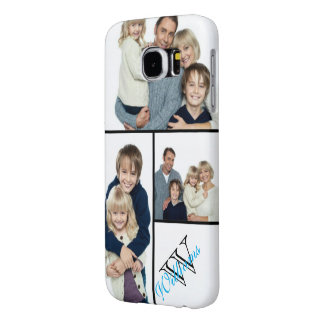 Create Your Own Simple Photo Collage w/Custom Name Samsung Galaxy S6 Cases