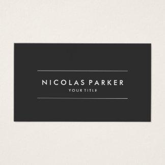 Create Your Own Simple Plain Minimalist Dark Grey Business Card