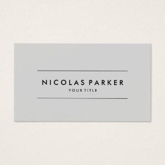 Create Your Own Simple Plain Minimalist Light Grey Business Card