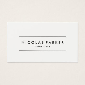 Create Your Own Simple Plain Minimalist White Business Card