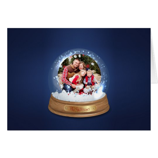 Create Your Own Snow Globe Photo Holiday Card