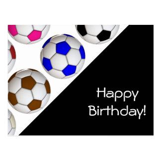 Create Your Own Soccer Birthday Card Postcard