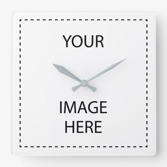 Create Your Own Square Grey Wall Clock