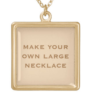 Create Your Own Square Pendant Necklace