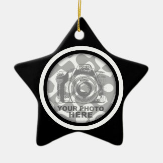 Create Your Own Star Ornament Black White Frame
