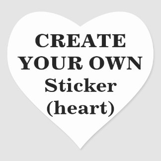 Create Your Own Sticker (heart)