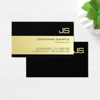 Create Your Own Stylish Monogram Gold Look Design Business Card