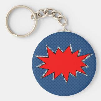 Create Your Own Superhero Onomatopoeias! POW! Basic Round Button Key Ring