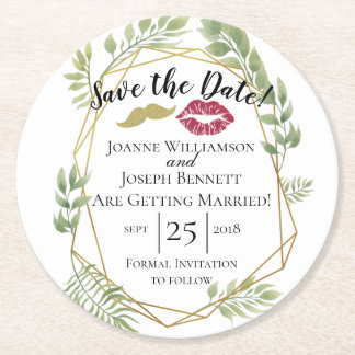 Create your own thank you coaster, save the date round paper coaster