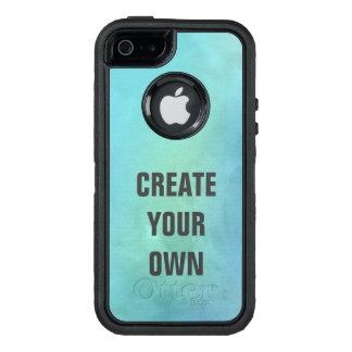 Create Your Own Turquoise Watercolor Painting OtterBox Defender iPhone Case