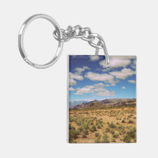 Create Your Own Two-Sided Double-Sided Square Acrylic Key Ring