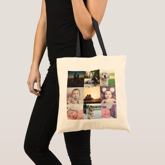 Create Your Own Unique Personalised 9 Photo Tote