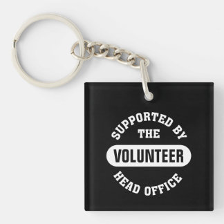 Create your own unique volunteer team Single-Sided square acrylic key ring