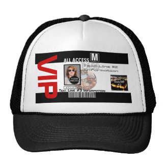 Create Your Own VIP Pass 8 ways to Personalize Cap