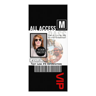 Create Your Own VIP Pass 8 ways to Personalize Rack Card Template