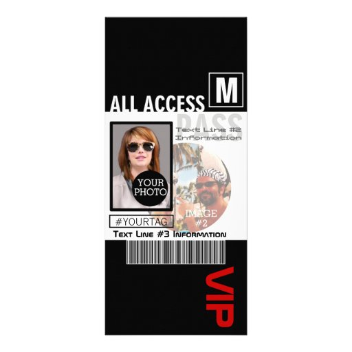 Create Your Own VIP Pass 8 ways to Personalize! Rack Card Template