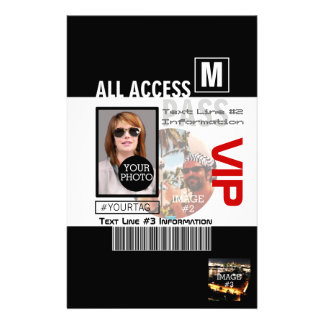 Create Your Own VIP Pass 8 ways to Personalize! Personalized Stationery
