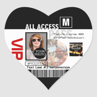 Create Your Own VIP Pass 8 ways to Personalize! Sticker