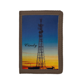 Create your own wallet - Tower silhouette sunset