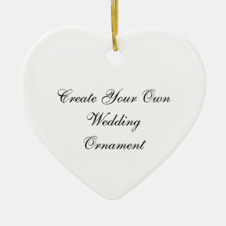 Create Your Own Wedding Heart Ornaments