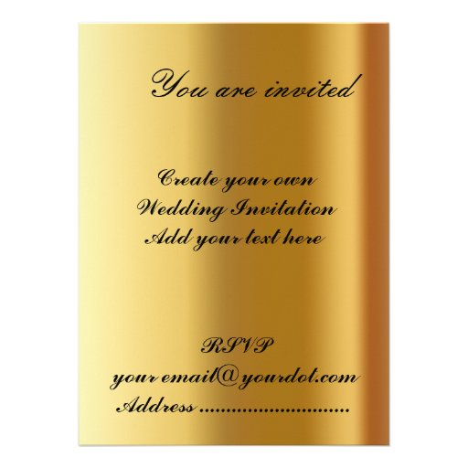 Write Your Own Wedding Invitations: Create Your Own Wedding Invitation 2