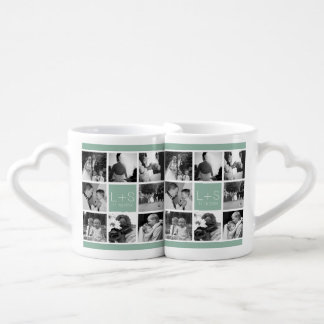 Create Your Own Wedding Photo Collage Monogram Coffee Mug Set