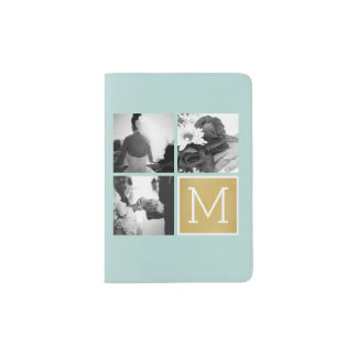 Create Your Own Wedding Photo Collage Monogram Passport Holder