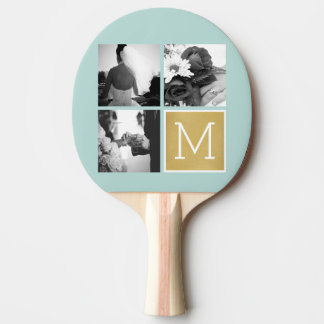 Create Your Own Wedding Photo Collage Monogram Ping Pong Paddle